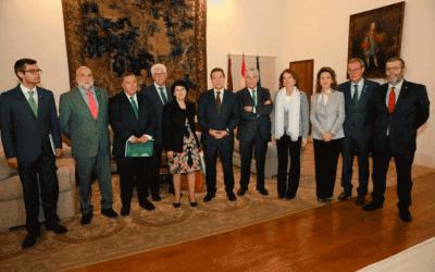 El Presidente de Castilla-La Mancha recibió a la junta directiva de Plena inclusión CLM