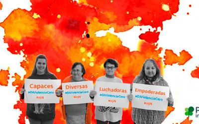 25N: Lanzamos la campaña #DiViolenciaCero para visibilizar situaciones de abuso a mujeres y niñas con discapacidad intelectual o del desarrollo