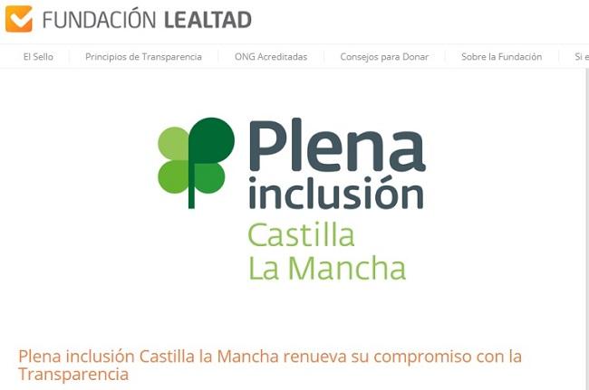 Plena inclusión Castilla la Mancha renueva su compromiso con la Transparencia