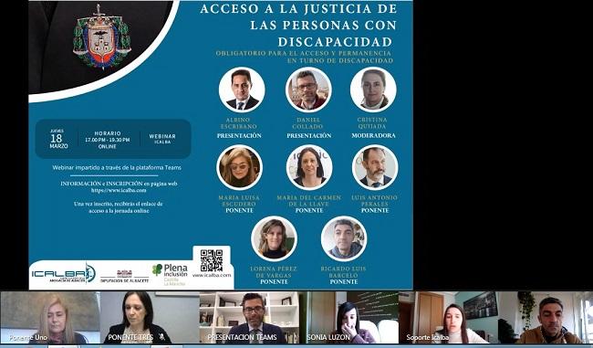 Plena inclusión CLM protagonista en las jornadas sobre el acceso a la justicia de las personas con discapacidad